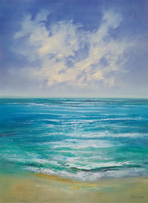 Original art for sale at UGallery.com | The Riptide by George Peebles | $3,100 | oil painting | 48' h x 36' w | ..\art\oil-painting-The-Riptide