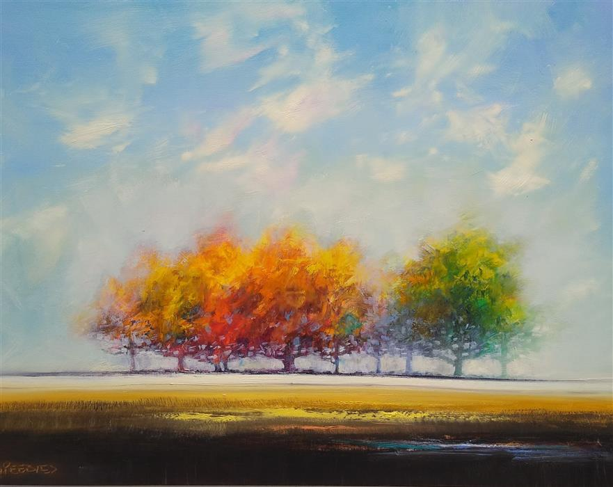 Original art for sale at UGallery.com | Magic of Summer by George Peebles | $2,575 | oil painting | 30' h x 40' w | ..\art\oil-painting-Magic-of-Summer