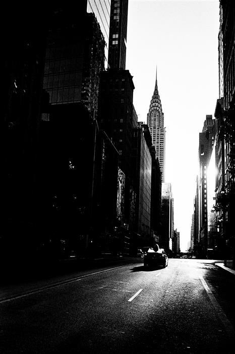 Original art for sale at UGallery.com | A Quiet Midtown by Adam Garelick | $25 | photography | 15' h x 10' w | ..\art\photography-A-Quiet-Midtown