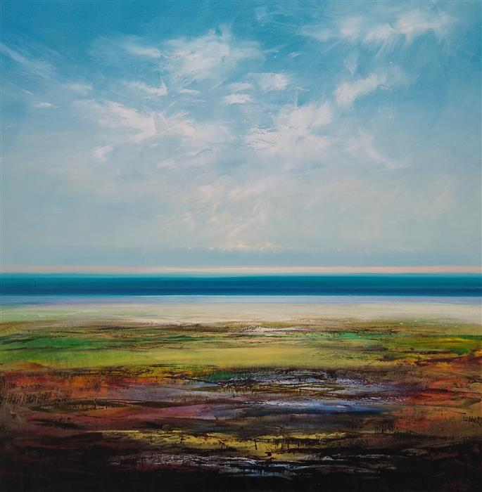 Original art for sale at UGallery.com | Morning Tide by George Peebles | $5,400 | oil painting | 48' h x 48' w | ..\art\oil-painting-Morning-Tide