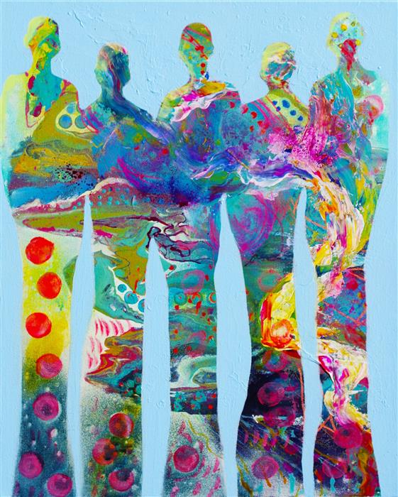 Original art for sale at UGallery.com | Hold Me Up 1 by Elizabeth Wing | $600 | acrylic painting | 20' h x 16' w | ..\art\acrylic-painting-Hold-Me-Up-1