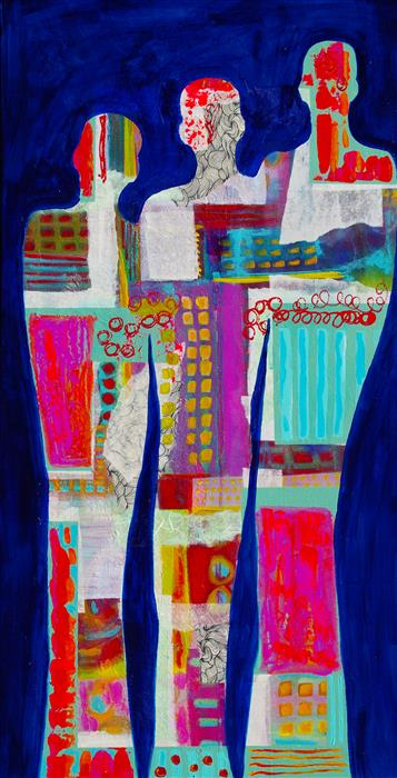 Original art for sale at UGallery.com | Unity by Elizabeth Wing | $1,475 | mixed media artwork | 40' h x 20' w | ..\art\mixed-media-artwork-Unity