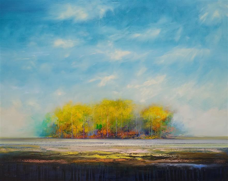Original art for sale at UGallery.com | Days of November by George Peebles | $7,200 | oil painting | 48' h x 60' w | ..\art\oil-painting-Days-of-November