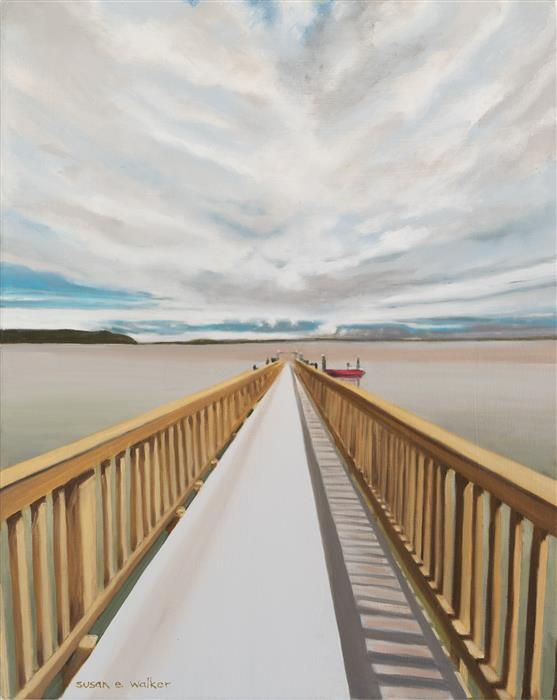 Original art for sale at UGallery.com | The Red Boat by Susan Walker | $775 | oil painting | 20' h x 16' w | ..\art\oil-painting-The-Red-Boat