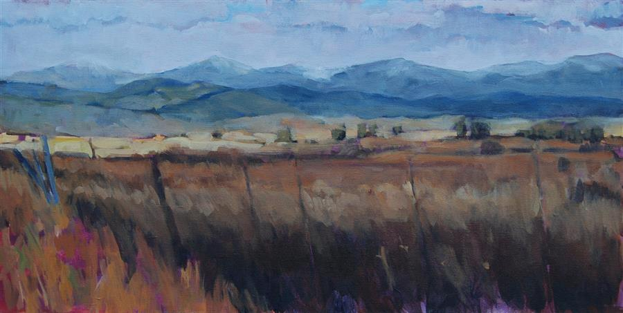 Original art for sale at UGallery.com | San Luis Valley by Heather Foster | $1,950 | acrylic painting | 12' h x 24' w | ..\art\acrylic-painting-San-Luis-Valley