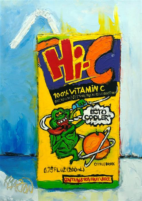 Original art for sale at UGallery.com | Ecto Cooler by Karen Barton | $260 | oil painting | 7' h x 5' w | ..\art\oil-painting-Ecto-Cooler