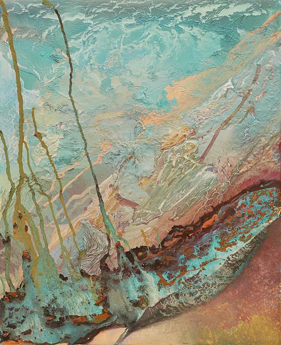 Original art for sale at UGallery.com | El Golfo by Fernando Bosch | $3,700 | mixed media artwork | 39.3' h x 31.8' w | ..\art\mixed-media-artwork-El-Golfo
