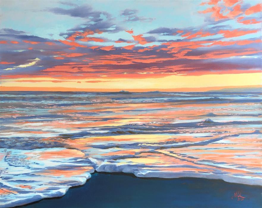Original art for sale at UGallery.com | The Soft Edge by Jesse Aldana | $1,375 | oil painting | 24' h x 30' w | ..\art\oil-painting-The-Soft-Edge
