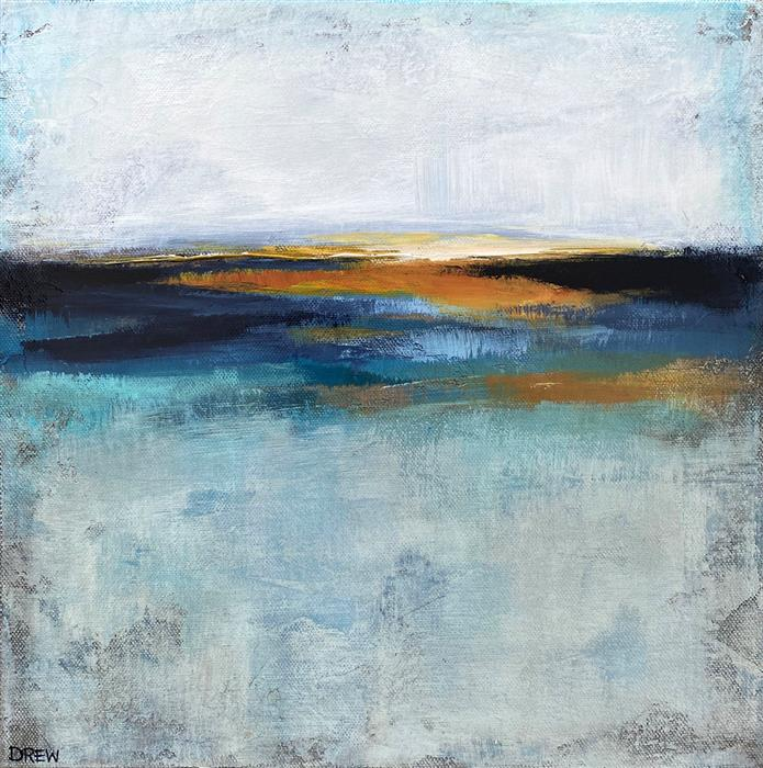 Original art for sale at UGallery.com | Sunrise by Drew Noel Marin | $350 | acrylic painting | 12' h x 12' w | ..\art\acrylic-painting-Sunrise-69485