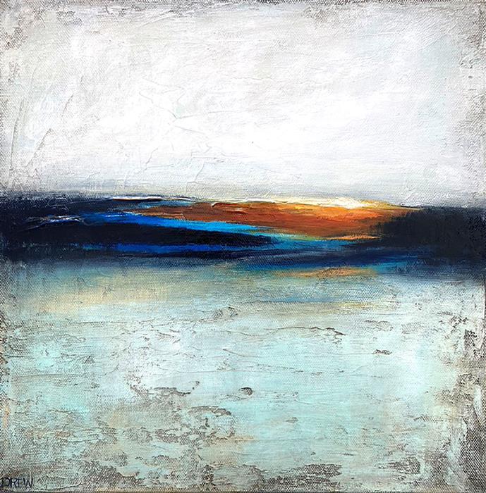 Original art for sale at UGallery.com | Sunset by Drew Noel Marin | $350 | acrylic painting | 12' h x 12' w | ..\art\acrylic-painting-Sunset-69486