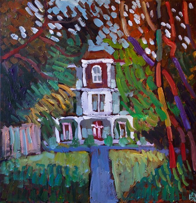 Original art for sale at UGallery.com | Milton by Robert Hofherr | $1,300 | acrylic painting | 24' h x 24' w | ..\art\acrylic-painting-Milton