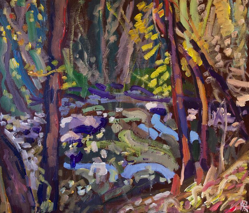 Original art for sale at UGallery.com | Big Gunpowder Falls by Robert Hofherr | $1,200 | acrylic painting | 20' h x 24' w | ..\art\acrylic-painting-Big-Gunpowder-Falls