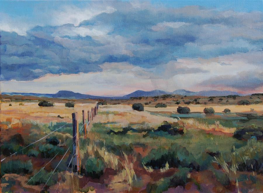Original art for sale at UGallery.com | Galisteo Basin by Heather Foster | $1,275 | acrylic painting | 12' h x 16' w | ..\art\acrylic-painting-Galisteo-Basin