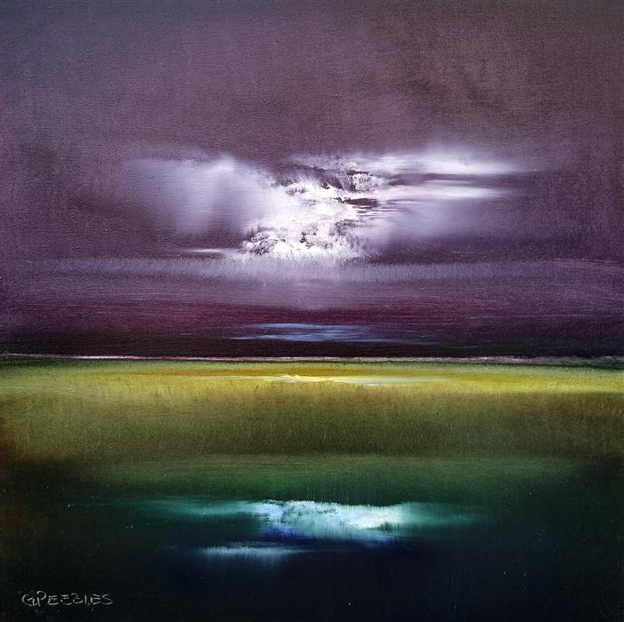 Original art for sale at UGallery.com   Moon Glow by George Peebles   $750   oil painting   20' h x 20' w   ..\art\oil-painting-Moon-Glow