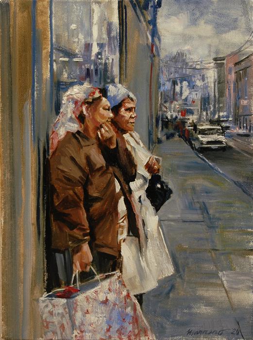 Original art for sale at UGallery.com | Entre Nosotros by Onelio Marrero | $525 | oil painting | 12' h x 9' w | ..\art\oil-painting-Entre-Nosotros