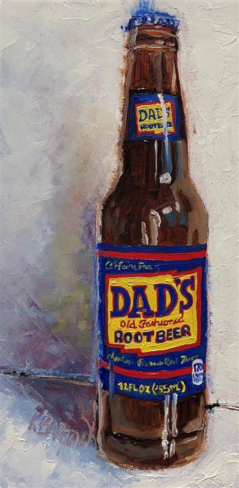 Original art for sale at UGallery.com | Dad's by Karen Barton | $235 | oil painting | 8' h x 4' w | ..\art\oil-painting-Dad-s