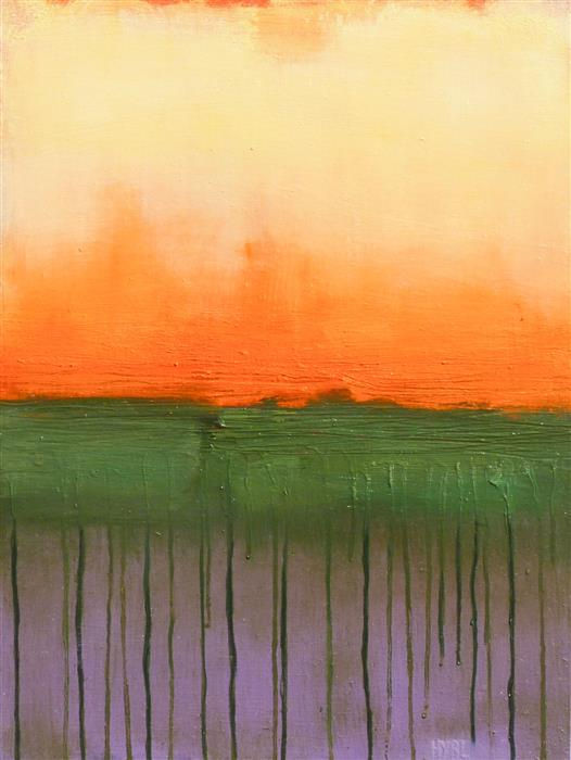 Original art for sale at UGallery.com | Fire Sky lll by Heidi Hybl | $1,050 | oil painting | 24' h x 18' w | ..\art\oil-painting-Fire-Sky-lll