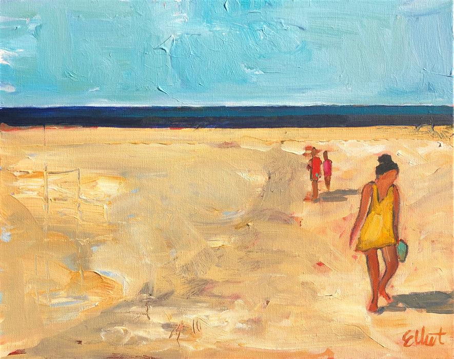 Original art for sale at UGallery.com | Leaving the Beach by Elliot Coatney | $450 | acrylic painting | 16' h x 20' w | ..\art\acrylic-painting-Leaving-the-Beach
