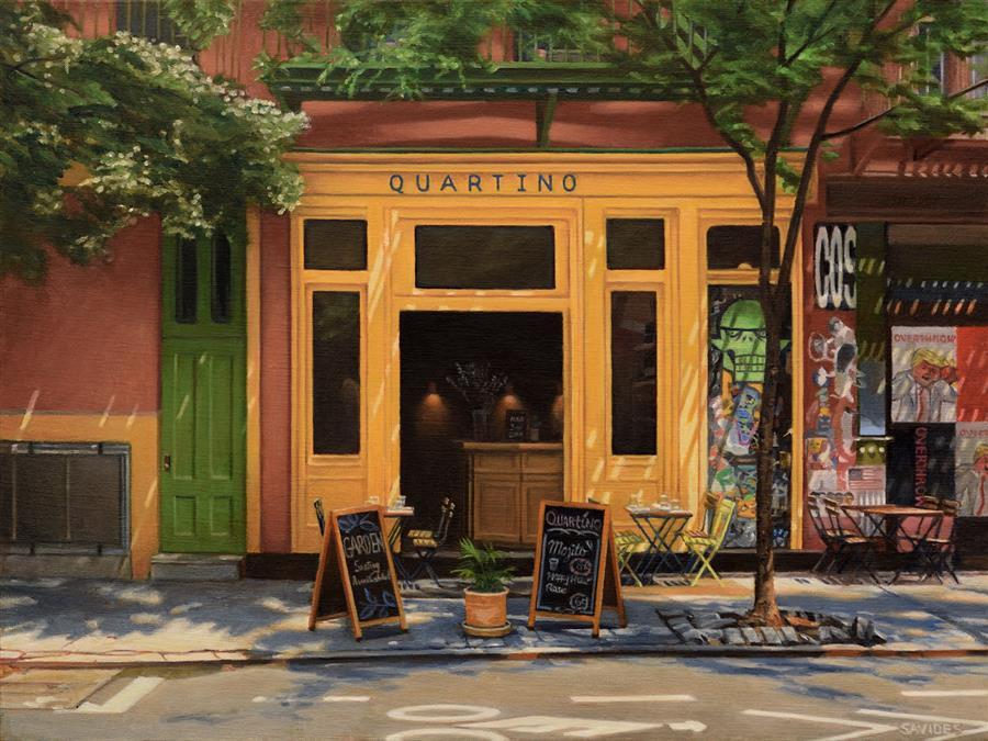 Original art for sale at UGallery.com | Quartino by Nick Savides | $2,600 | oil painting | 18' h x 24' w | ..\art\oil-painting-Quartino