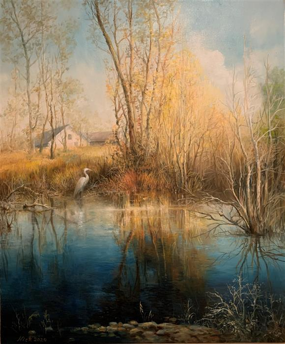Original art for sale at UGallery.com | Early Spring by Nikolay Rizhankov | $1,750 | oil painting | 24' h x 20' w | ..\art\oil-painting-Early-Spring-69638