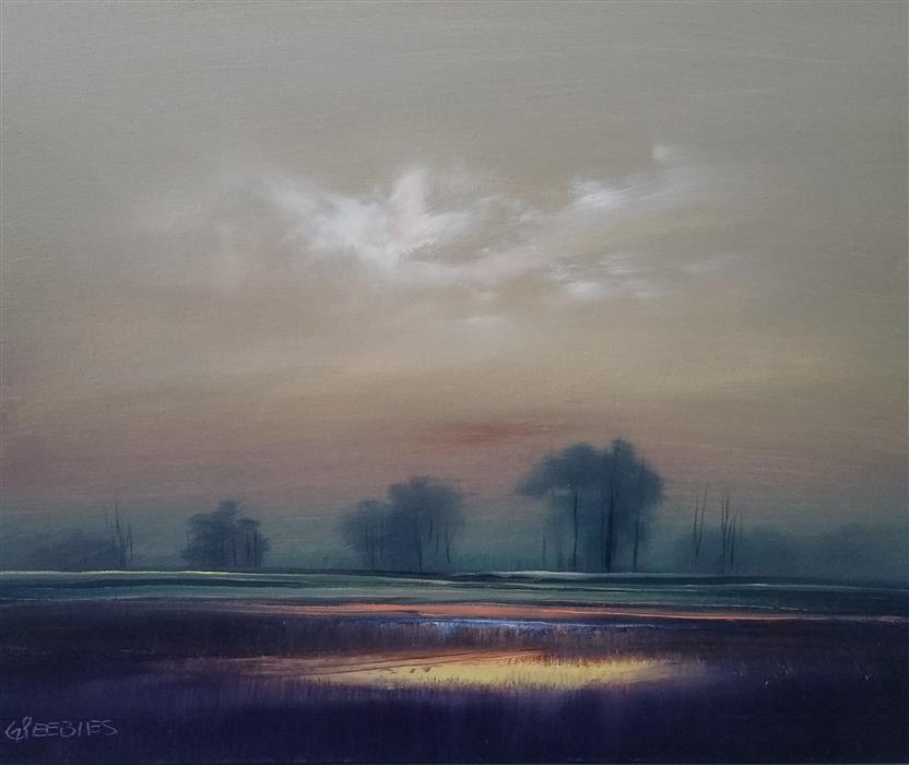 Original art for sale at UGallery.com | Twilight by George Peebles | $850 | oil painting | 20' h x 24' w | ..\art\oil-painting-Twilight-69646