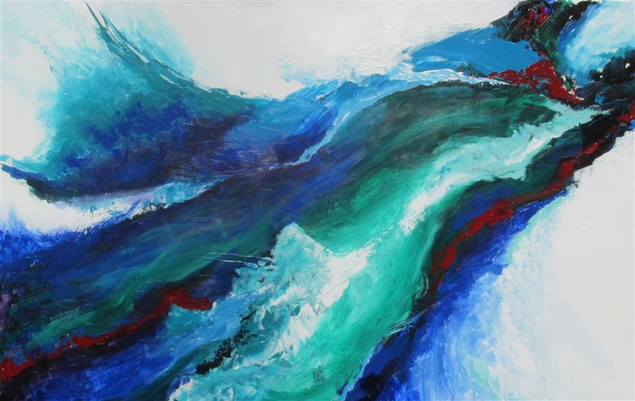 Original art for sale at UGallery.com | Beach Song by Weldon Ball | $1,050 | acrylic painting | 24' h x 36' w | ..\art\acrylic-painting-Beach-Song