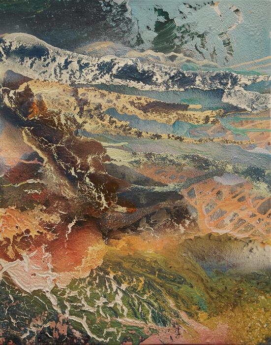 Original art for sale at UGallery.com | La Graciosa by Fernando Bosch | $2,700 | mixed media artwork | 36.2' h x 28.7' w | ..\art\mixed-media-artwork-La-Graciosa