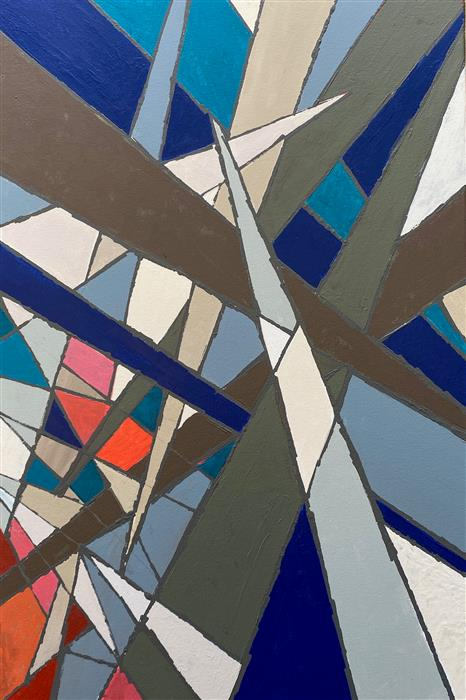 Original art for sale at UGallery.com   Jagged Edges by Alicia Dunn   $1,700   acrylic painting   36' h x 24' w   ..\art\acrylic-painting-Jagged-Edges