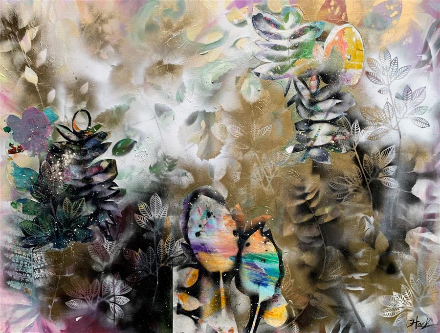 Original art for sale at UGallery.com | All Your Dreams Come True by Julia Hacker | $3,450 | mixed media artwork | 36' h x 48' w | ..\art\mixed-media-artwork-All-Your-Dreams-Come-True