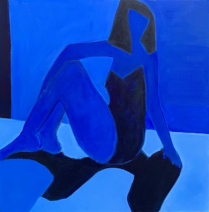 Original art for sale at UGallery.com   Shadow Play 2 by Robin Okun   $1,975   acrylic painting   36' h x 36' w   ..\art\acrylic-painting-Shadow-Play-2