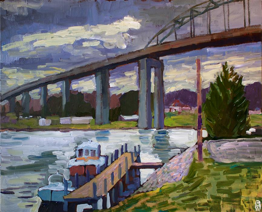 Original art for sale at UGallery.com | View from the North Side by Robert Hofherr | $1,525 | acrylic painting | 24' h x 30' w | ..\art\acrylic-painting-View-from-the-North-Side