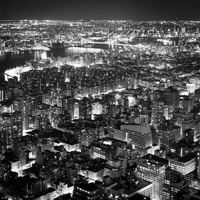 Original art for sale at UGallery.com | Manhattan and Brooklyn at Night by Adam Garelick | $25 | photography | 12' h x 12' w | ..\art\photography-Manhattan-and-Brooklyn-at-Night
