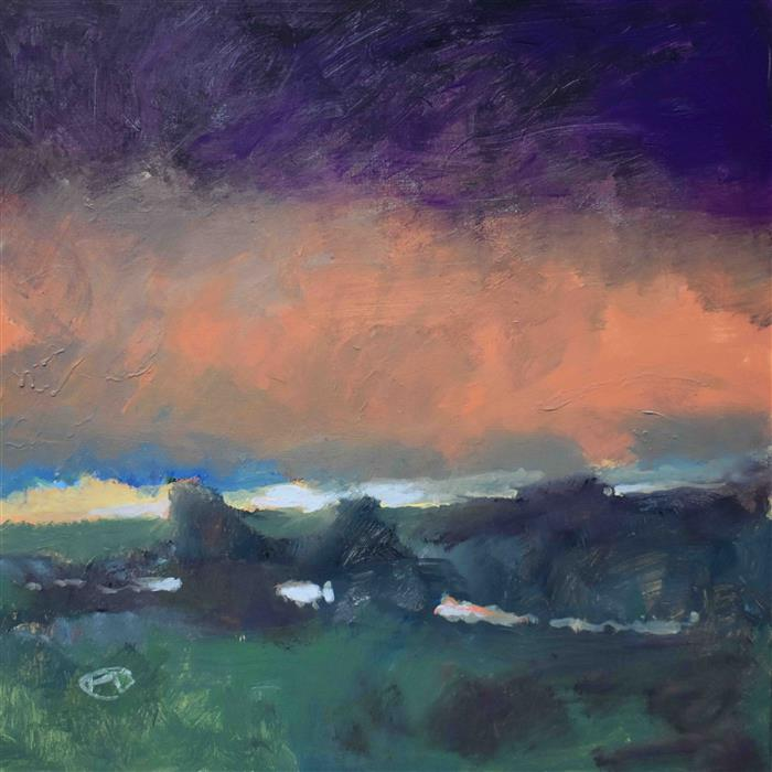 Original art for sale at UGallery.com | Dawn Breaking over the Land by Kip Decker | $2,200 | acrylic painting | 30' h x 30' w | ..\art\acrylic-painting-Dawn-Breaking-over-the-Land