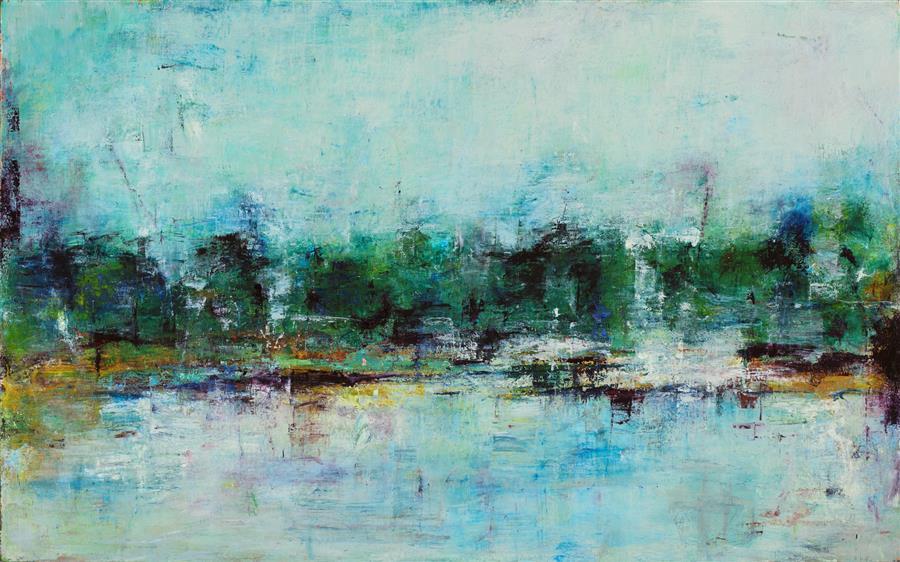 Original art for sale at UGallery.com | Landscape of Love by Lisa Manes-James | $3,200 | oil painting | 31' h x 50' w | ..\art\oil-painting-Landscape-of-Love