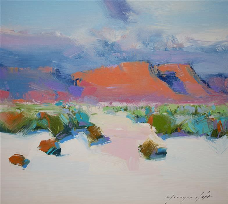 Original art for sale at UGallery.com | Sedona View by Vahe Yeremyan | $600 | oil painting | 16' h x 18' w | ..\art\oil-painting-Sedona-View