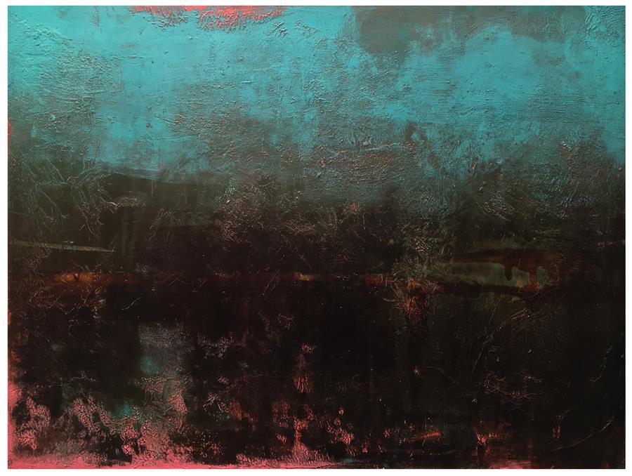Original art for sale at UGallery.com | The Night Will Share Its Secrets by Agata Kijanka | $925 | oil painting | 18' h x 24' w | ..\art\oil-painting-The-Night-Will-Share-Its-Secrets
