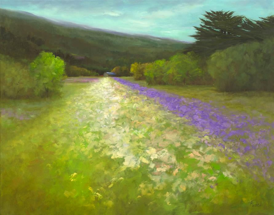 Original art for sale at UGallery.com | A Time to Bloom by Sheila Finch | $1,700 | oil painting | 22' h x 28' w | ..\art\oil-painting-A-Time-to-Bloom