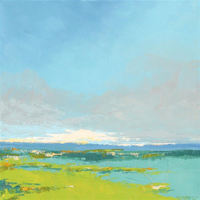 Original art for sale at UGallery.com | Clouds - Vermont by Ruth LaGue | $600 | acrylic painting | 12' h x 12' w | ..\art\acrylic-painting-Clouds-Vermont