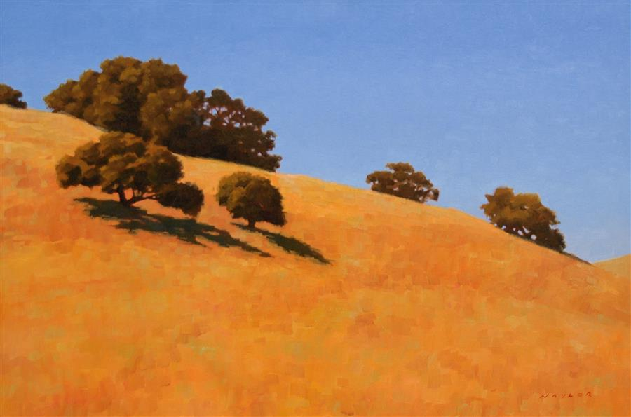 Original art for sale at UGallery.com | Oaks 1 by Rodgers Naylor | $2,175 | oil painting | 20' h x 30' w | ..\art\oil-painting-Oaks-1
