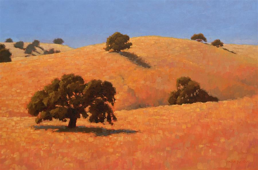 Original art for sale at UGallery.com | Oaks 2 by Rodgers Naylor | $2,175 | oil painting | 20' h x 30' w | ..\art\oil-painting-Oaks-2