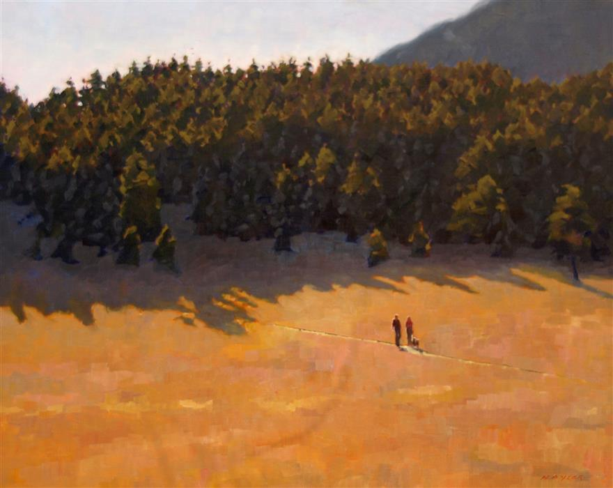 Original art for sale at UGallery.com | Meadow Hike by Rodgers Naylor | $2,625 | oil painting | 24' h x 30' w | ..\art\oil-painting-Meadow-Hike