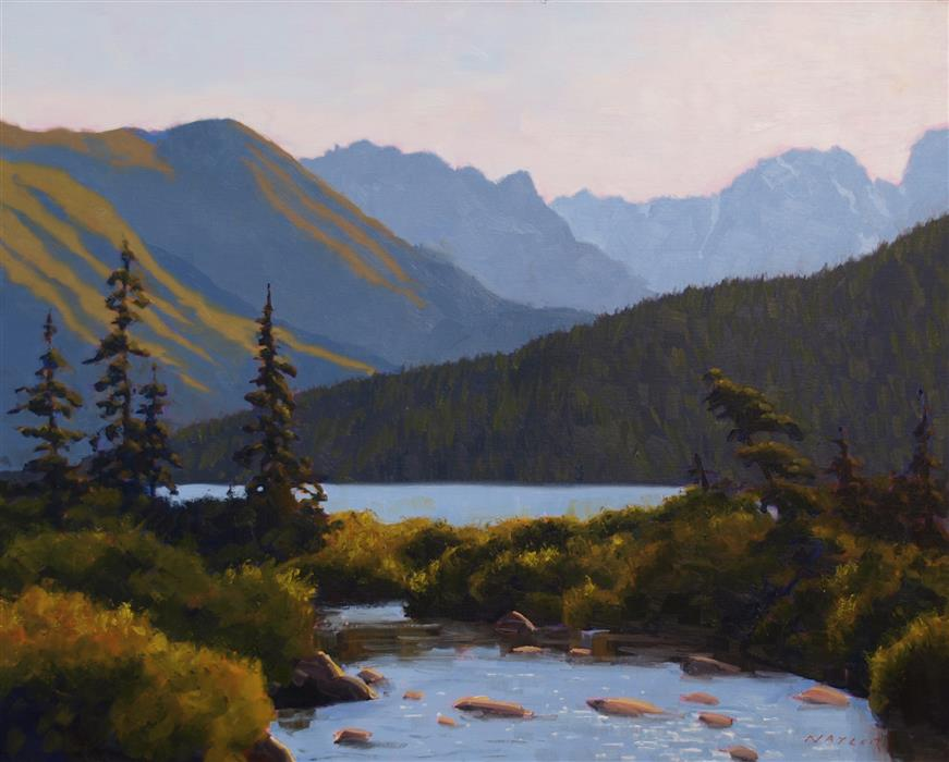 Original art for sale at UGallery.com | Headwaters by Rodgers Naylor | $2,625 | oil painting | 24' h x 30' w | ..\art\oil-painting-Headwaters