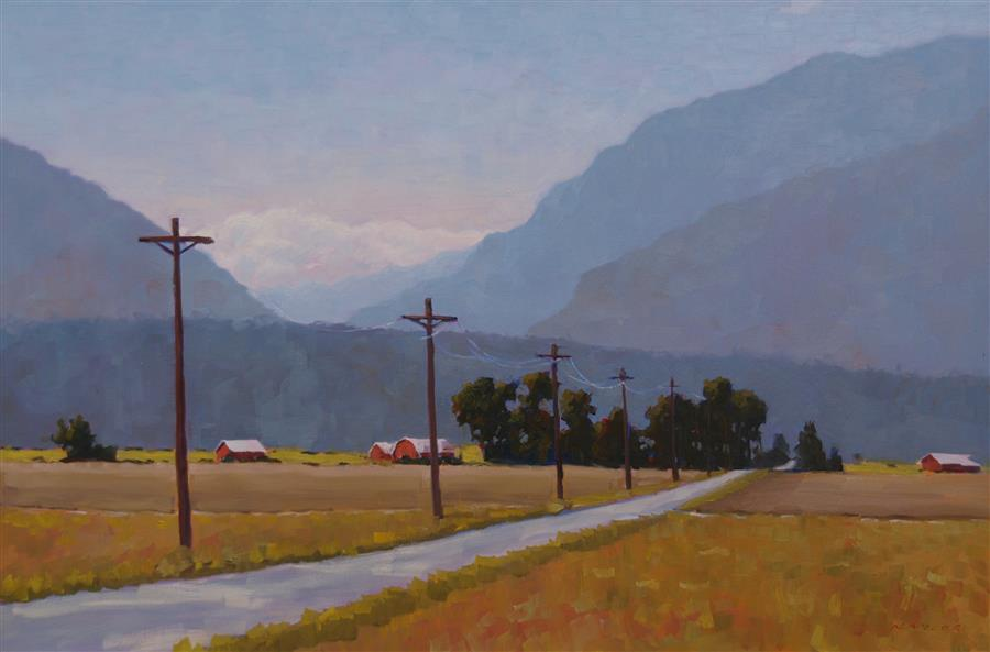 Original art for sale at UGallery.com | Arkansas Valley by Rodgers Naylor | $3,150 | oil painting | 24' h x 36' w | ..\art\oil-painting-Arkansas-Valley