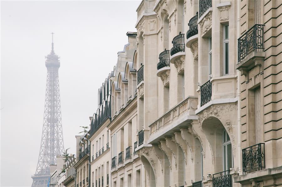 Original art for sale at UGallery.com | Madame Eiffel by Carina Okula | $150 | photography | 15' h x 10' w | ..\art\photography-Madame-Eiffel