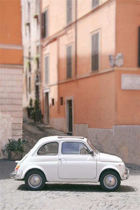 Original art for sale at UGallery.com | Vintage Fiat in Rome by Carina Okula | $150 | photography | 15' h x 10' w | ..\art\photography-Vintage-Fiat-in-Rome