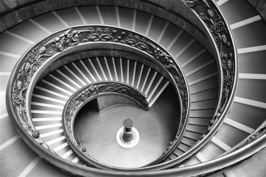Original art for sale at UGallery.com   Bramante Staircase Rome by Carina Okula   $150   photography   15' h x 10' w   ..\art\photography-Bramante-Staircase-Rome