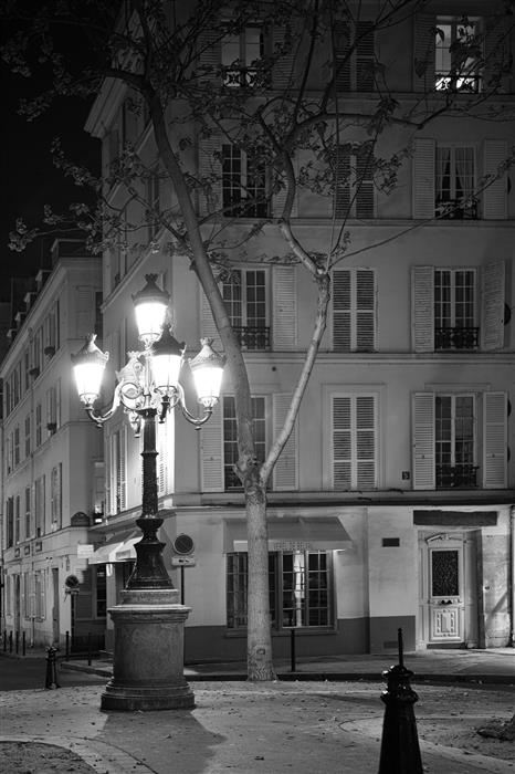 Original art for sale at UGallery.com | Paris by Night - A Quiet Corner by Carina Okula | $150 | photography | 15' h x 10' w | ..\art\photography-Paris-by-Night-A-Quiet-Corner