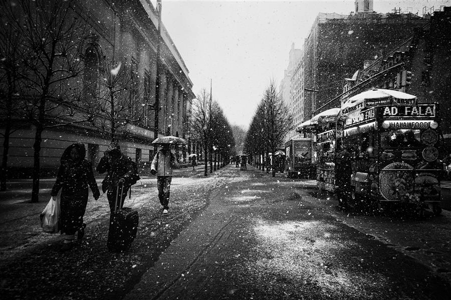 Original art for sale at UGallery.com   Snowfall in New York by Elena Raceala   $200   photography   18' h x 12' w   ..\art\photography-Snowfall-in-New-York