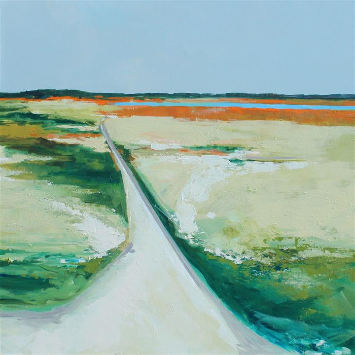 Original art for sale at UGallery.com | The Path to the Inlet by Ruth LaGue | $3,300 | acrylic painting | 36' h x 36' w | ..\art\acrylic-painting-The-Path-to-the-Inlet