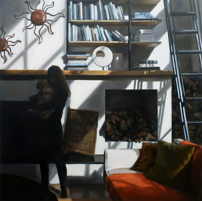 Original art for sale at UGallery.com | Elijah's Room by Camilla Marie Dahl | $4,100 | oil painting | 36' h x 36' w | ..\art\oil-painting-Elijah-s-Room